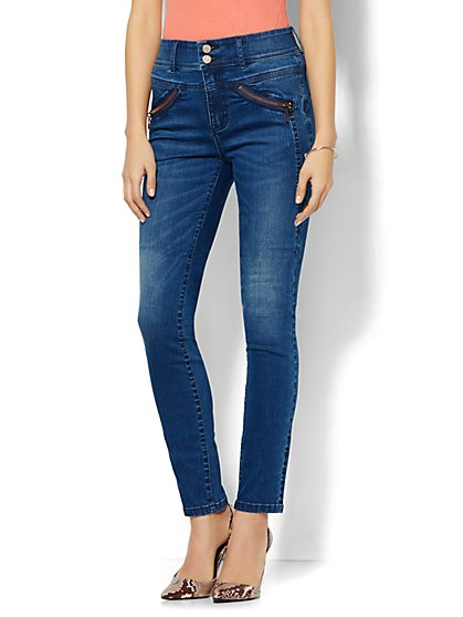 Soho Jeans - Jennifer Hudson Ankle Legging - Runway Blue Wash   - New York & Company