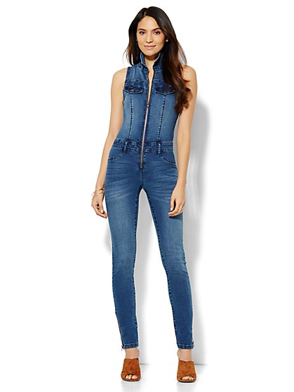Soho Jeans - Jennifer Hudson Denim Jumpsuit - Southern Blue Wash  - New York & Company