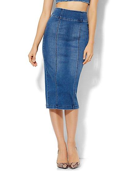Soho Jeans - Jennifer Hudson Denim Skirt - Wellness Blue Wash  - New York & Company