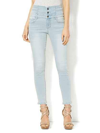 Soho Jeans - Jennifer Hudson High-Waist Ankle Legging - Drifter Blue Wash  - New York & Company