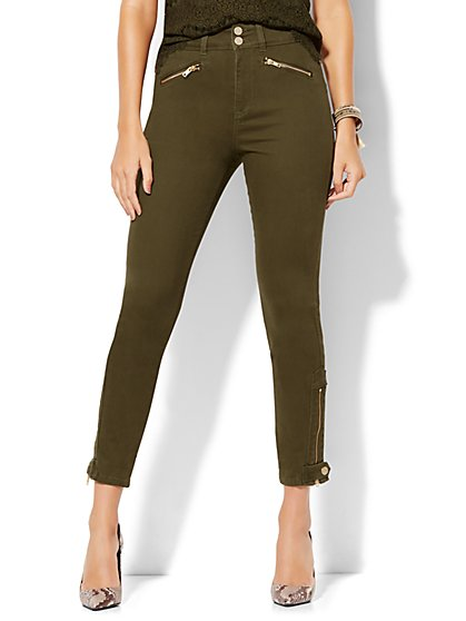 Soho Jeans - Jennifer Hudson High-Waist Ankle Legging - Woodland Green  - New York & Company