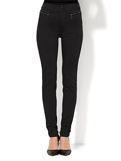 Soho Jeans - Jennifer Hudson High-Waist Legging - Black - Petite  - New York & Company