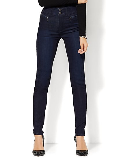 Soho Jeans - Jennifer Hudson High-Waist Legging  - Indigo Blue Wash - Petite - New York & Company