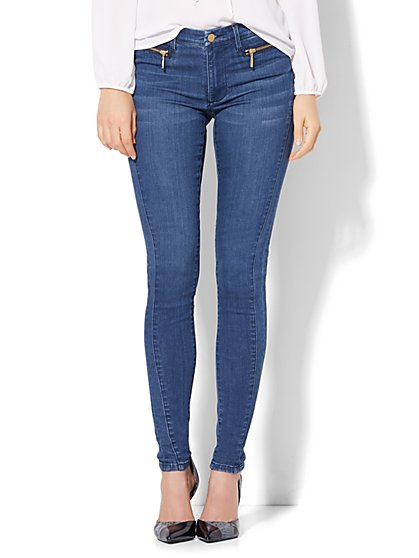 Soho Jeans - Jennifer Hudson Zip-Accent Legging - Rhapsody Wash  - New York & Company