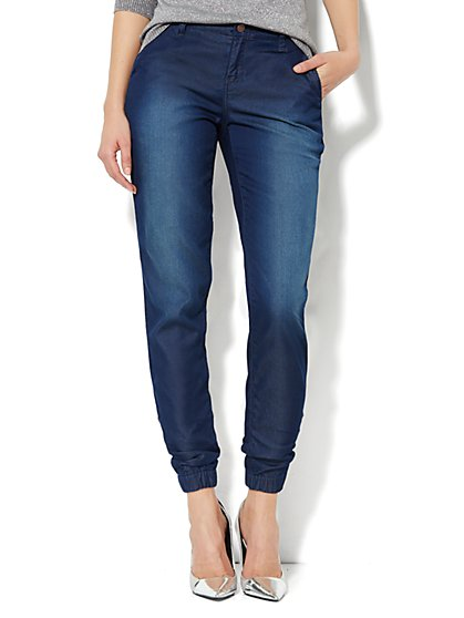 Soho Jeans Jogger Trouser - Dark Tide Wash - New York & Company