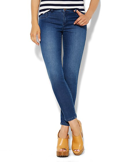 Soho Jeans Knit Denim Ankle Jean - Dark Tide Wash  - New York & Company