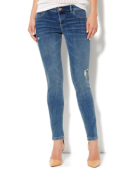 Soho Jeans Legging - Canyon Blue Wash - New York & Company