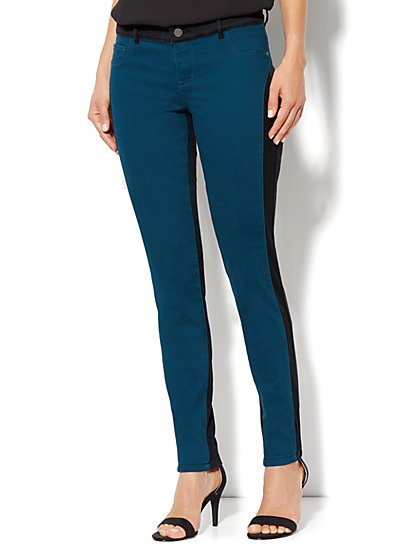 Soho Jeans Legging - Colorblock - New York & Company