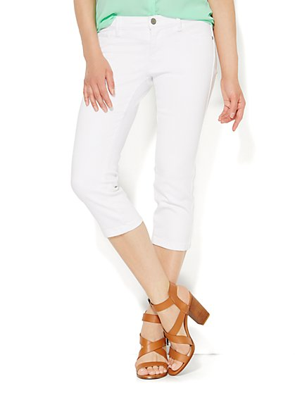 Soho Jeans Legging - Crop - Optic White  - New York & Company