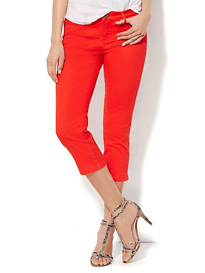 Soho Jeans Legging - Crop - Red Harbor  - New York & Company