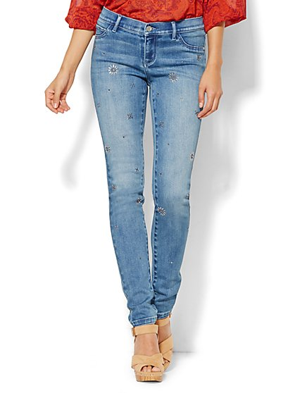 Soho Jeans - Legging - Embellished - Blue Mink Wash  - New York & Company