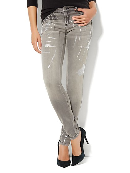 Soho Jeans Legging - Foil Accent  - New York & Company