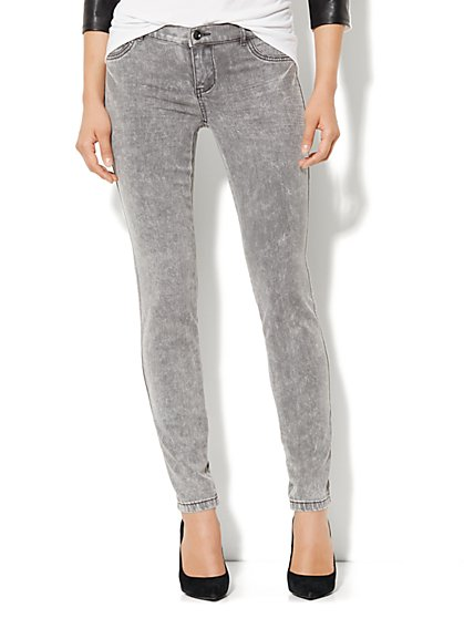 Soho Jeans Legging - Grey Acid Wash - New York & Company