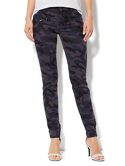 Soho Jeans Legging  - Navy Camo - Zip-Accent