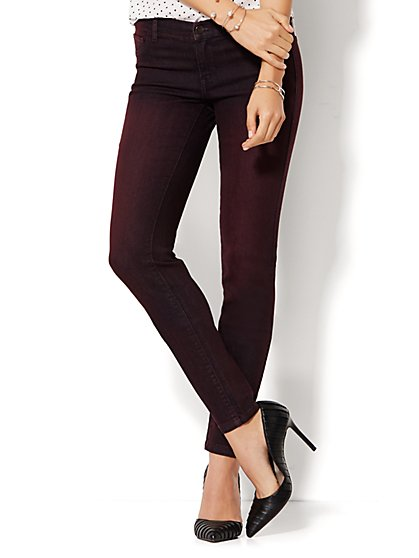 Soho Jeans - Legging - Ombre True Burgundy  - New York & Company