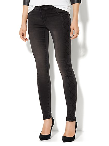 Soho Jeans Legging - Quilted Side Panel - New York & Company