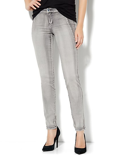Soho Jeans Legging - Seamed Panel - Biker Grey - New York & Company
