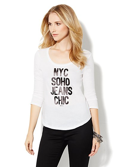 Soho Jeans Logo Tee-Shirt - New York & Company