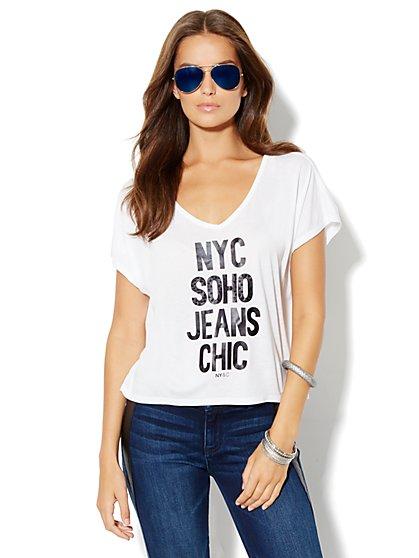 Soho Jeans Logo Tee - New York & Company