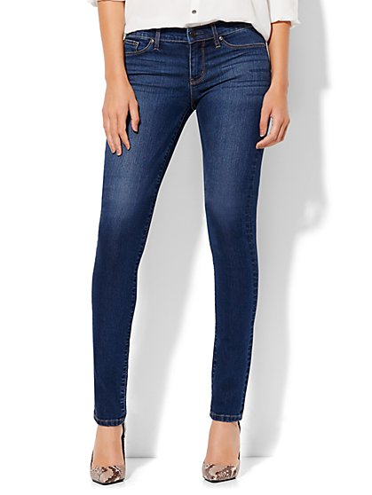 Soho Jeans - Mid Rise Skinny - Force Blue Wash - Petite  - New York & Company