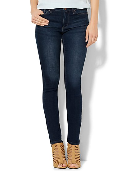 Soho Jeans - Mid Rise Skinny - Highland Blue Wash - Petite  - New York & Company