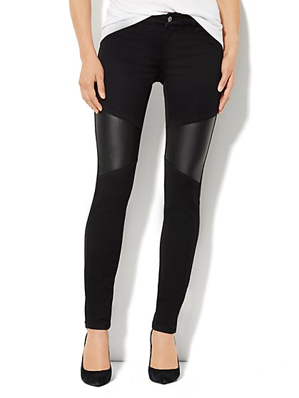 Soho Jeans Moto Legging - New York & Company