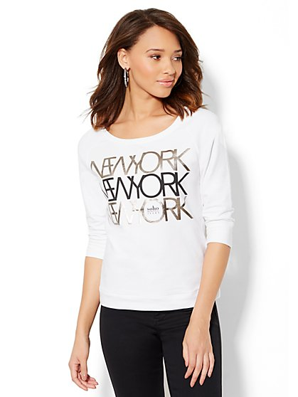 Soho Jeans - NYC Logo Sweatshirt  - New York & Company