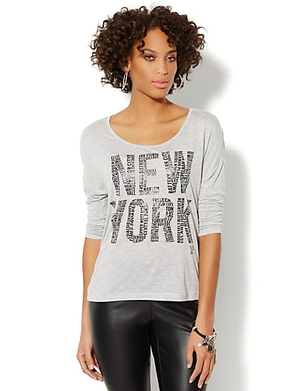 Soho Jeans New York Dolman-Sleeve Tee - New York & Company
