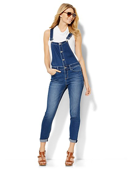 Soho Jeans Overall - Crown Blue Wash  - New York & Company