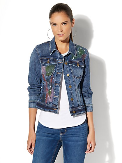 Soho Jeans - Painted Denim Jacket - New York & Company