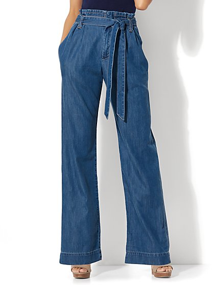 Soho Jeans - Paper Bag Waist - Goldstone Blue Wash - New York & Company