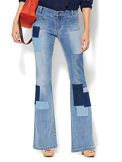 Soho Jeans - Patchwork Flare - Howling Blue Wash  - New York & Company