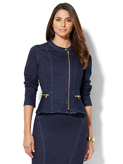 Soho Jeans - Peplum Jacket - Lakeside Blue Wash  - New York & Company