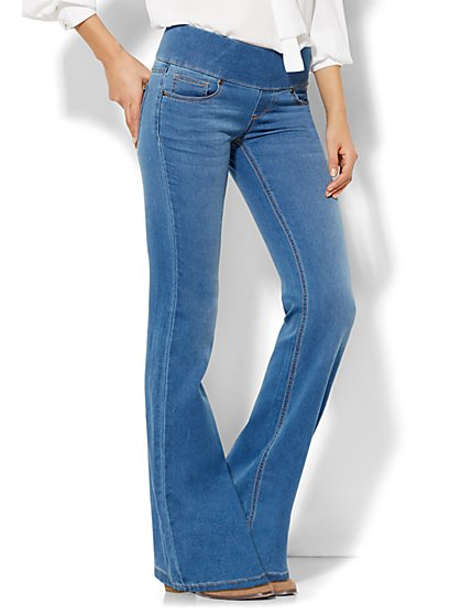 Soho Jeans - Pull-On Bootcut - Waterfall Blue Wash  - New York & Company