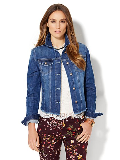 Soho Jeans - Raw-Edge Denim Jacket  - New York & Company