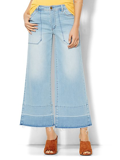 Soho Jeans - Released Hem Culotte - Sassy Blue Wash  - New York & Company