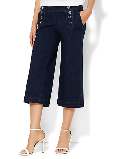 Soho Jeans - Sailor Culotte - Dark Tide Wash  - New York & Company
