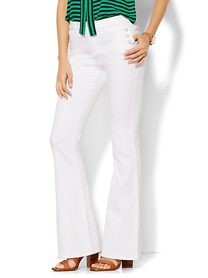 Soho Jeans - Sailor Flare - Optic White  - New York & Company