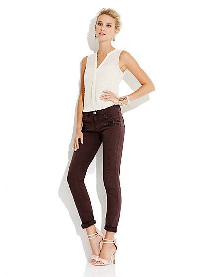 Soho Jeans Seamed Ankle Legging - New York & Company