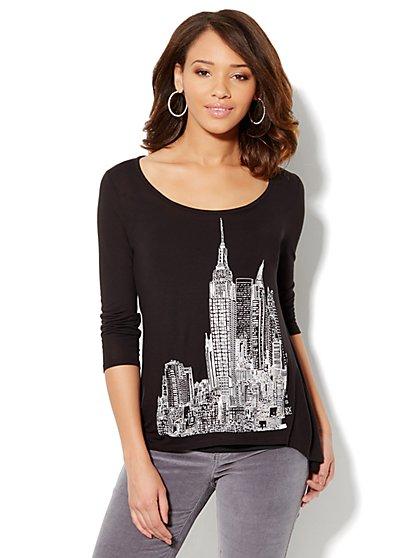 Soho Jeans - Skyline Hi-Lo Tee - New York & Company