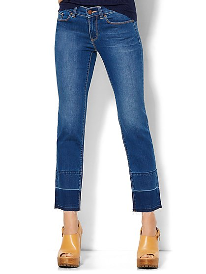 Soho Jeans - Stovepipe - Release Hem - Lively Blue Wash   - New York & Company