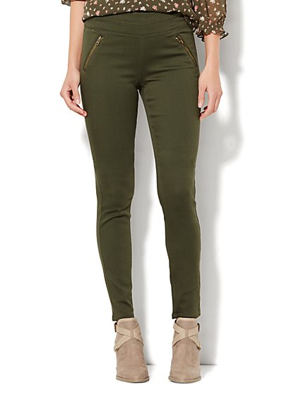 Soho Jeans - SuperStretch High-Waist Pull-On Legging - New York & Company