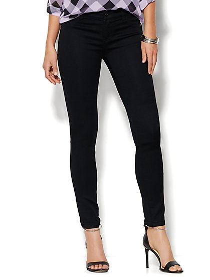 Soho Jeans - SuperStretch Legging - Black - Petite  - New York & Company