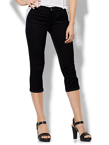 Soho Jeans SuperStretch Legging - Crop - Black  - New York & Company