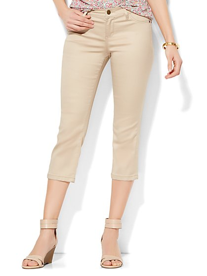 Soho Jeans SuperStretch Legging - Crop - Driftwood  - New York & Company
