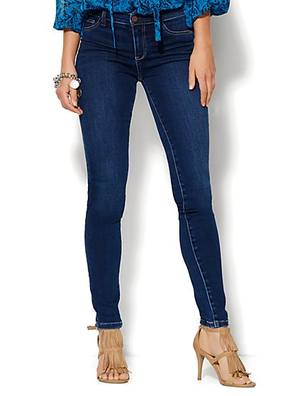Soho Jeans - SuperStretch Legging - Polished Blue Wash - Petite  - New York & Company