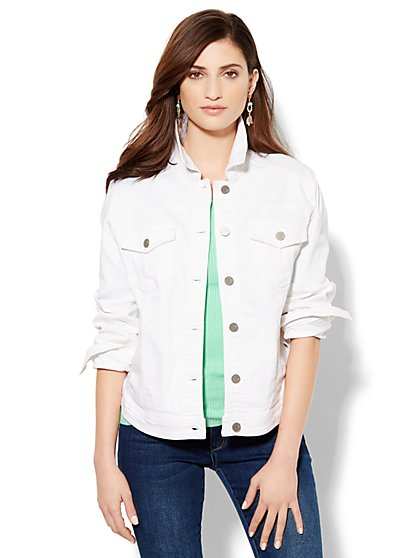 Soho Jeans - White Denim Jacket - New York & Company