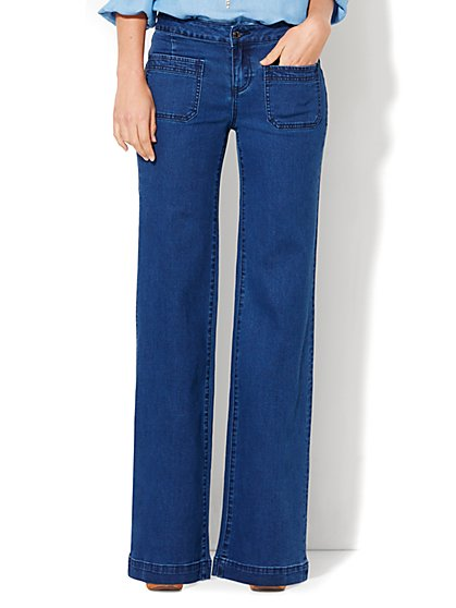Soho Jeans - Wide Leg - Indigo Blue Wash  - New York & Company