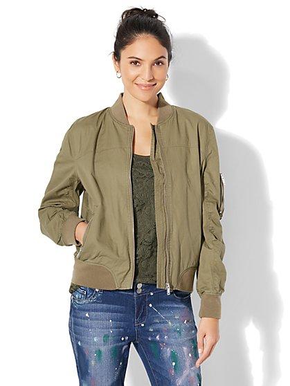 Soho Jeans - Zip-Up Bomber Jacket - New York & Company