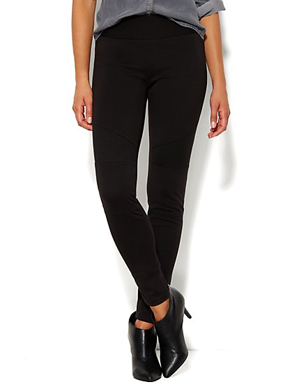 Soho Moto Ponte Legging  - New York & Company
